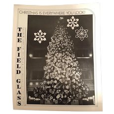 Marshall Field's Field Glass Magazine Christmas Uncle Mistletoe