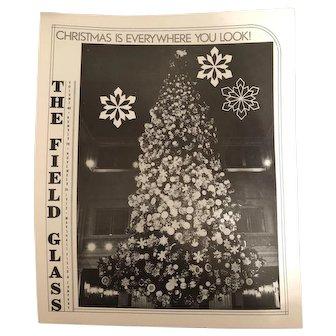 Marshall Field's Field Glass Magazine Christmas Uncle Mistletoe