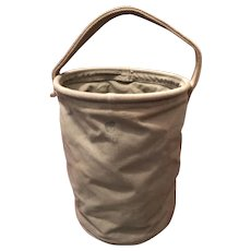 Canvas US Army WW11 Collapsible Water Bucket