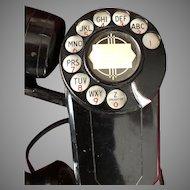 Art Deco Automatic Electric Bakelite Wall Telephone