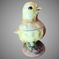Lefton Yellow Chick Covered Dish