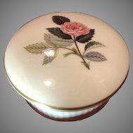 Round Wedgwood Trinket Box Bone China England