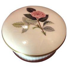 Round Wedgwood Trinket Box Bone China England