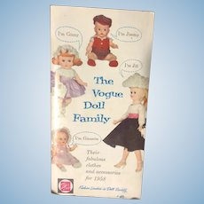 The Vogue Doll Family Pamphlet for 1958 Clothes and Accessories