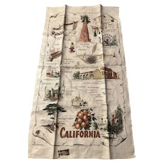 Kay Dee California 100% Linen Towel Original Label