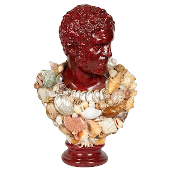 Faux Porphyry Seashell Bust of Caracalla after Anthony Redmile