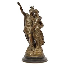 "J. L. Gregoire, A French Bronze Figural Group ""Orestes & Iphigenia"""
