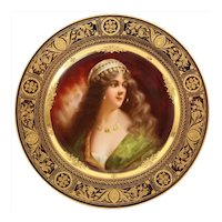 "A Rare and Exceptional Royal Vienna Porcelain Plate of ""Yessida"" by Wagner"