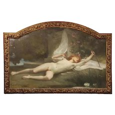 """Jules-Louis Machard """"Dream of Eros"""" Exceptional Oil Painting"""