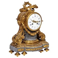 A French Ormolu-Mounted Bleu Turquin Marble Clock, Japy Freres, circa 1880