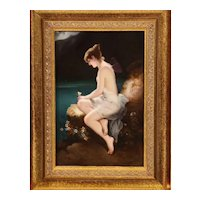 "Fine Quality Antique Berlin KPM Hand Painted Porcelain Plaque ""Psyche"""