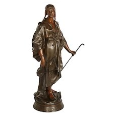 Emile-Louis Picault, a French Orientalist Bronze Figure of Queen Esther
