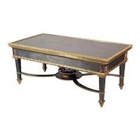 Louis XVI Style French Ormolu-Mounted Steel Coffee Table