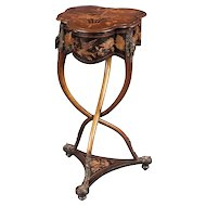 Rare French Art Nouveau Marquetry Table by Charles Guillaume Diehl, circa 1878