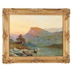Alfred de Breanski Sr. Oil Painting Nantile Lake North Wales