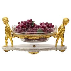French Ormolu and Cut-Glass Centrepiece by Baccarat Paris, circa 1870