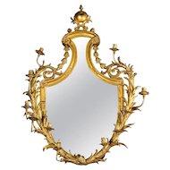 Very Fine Gilt-Bronze Ormolu Girandole Mirror by Edward F. Caldwell & Co.