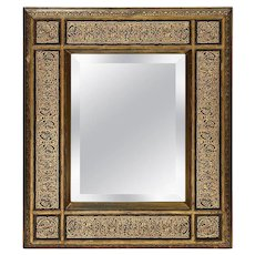 Rare Islamic Orientalist Calligraphy Hand Carved Mirror Frame, circa 1900