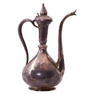 Frech Silver Ewer In Oriental Style by Falize