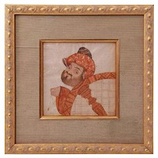 Signed Middle Eastern Watercolor Miniature