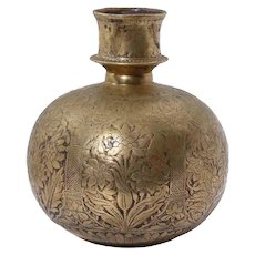 Ottoman Empire Islamic Hookah Base With Flowers