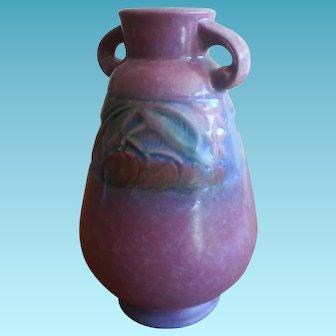 1932 Roseville Pottery Baneda vase in Pink Pumpkin Vines