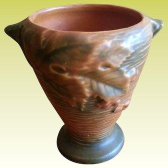 Roseville Pottery Brown Bushberry Vase 28-4