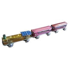 Circa 1920s Tin Toy Japan Penny Toy Train