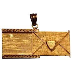 Beverly Hills Gold 14K Bracelet Charm Love Letter Locket