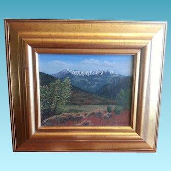 Utah Oil Painting by David Johnson Spring City scene Horseshoe Mountain
