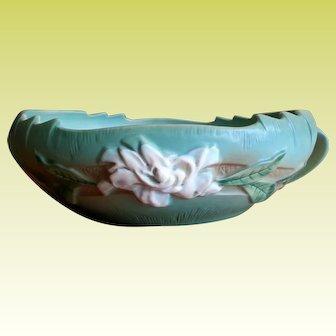 Rare 10 inch Roseville pottery Gardenia Bowl 629-10