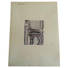 Original 1932 M.C. Escher AP Woodcut Print