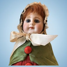 """15"""" Tall Antique German Bisque Head Doll Candy Container - All Original"""