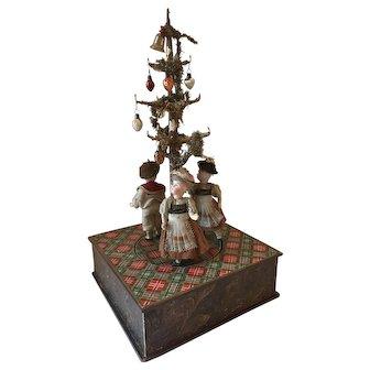 "17"" Tall Antique German Crank Wind Musical Toy - 100 %  Factory Original"