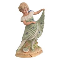 12 Inch Antique Gebruder Heubach Dancing Girl- Mint Condition