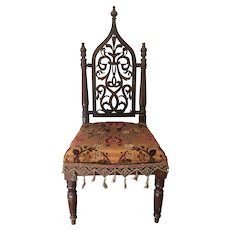 "29.75"" Antique Gothic Child's Chair ca1890"
