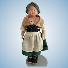 "11"" Rheinische Gummi und Celluloid Fabrik Co Doll with Turtle Mark"