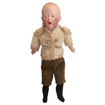 "11.5"" Rare German ""Spinach Baby"" Gebrüder Heubach Doll c. 1915 Mint Condition All Original"