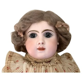 """20.5"""" Antique French Phenix Bebe Doll with Jumeau Body c. 1890"""