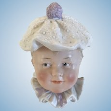 Heubach Character Boy -  Bisque Candy Container  Circa 1910