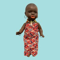 "8.25"" Antique VERY Rare Heubach Köppelsdorf African Toddler - All Original and Mint Condition"