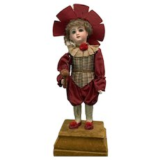 """18"""" Antique Depose Tete Jumeau Mechanical Doll Throws and Catches a Ball w/ Her Newspaper Clipping - All Original Mint Condition"""