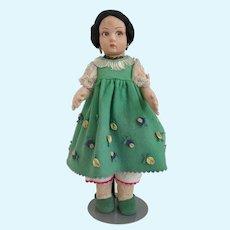 """14 1/2"""" Lenci Rita (Lucia-Face) Doll -Circa 1930's"""
