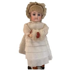 """10"""" German Bisque Closed Mouth Doll by Kestner - Petite Cabinet Size"""