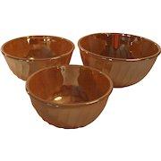 Peach Luster Nesting Mixing Bowls Set of Three