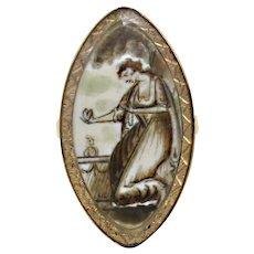 Antique Georgian Sepia Mourning Ring