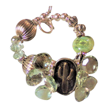 Saguaro Dreams in Green Amethyst
