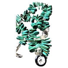 Turquoise Watch Necklace