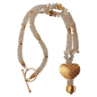 Gold Vermeil Heart Necklace