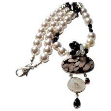 Pendant Necklace Featuring Peanut Wood Jasper